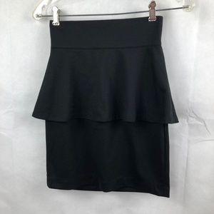 BB Dakota Peplum Black Skirt Size 2